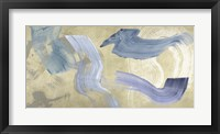 Framed Blue Waves on Gold