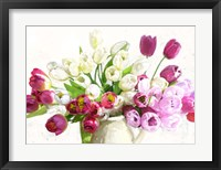 Framed Bouquet on White Background