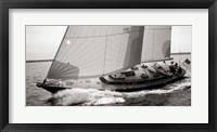 Framed Sailboat Leaning to the Side (detail, BW)