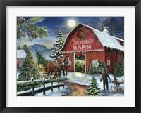 Framed Christmas Barn