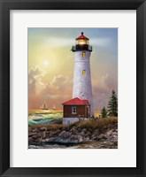 Framed Crisp Point Lighthouse