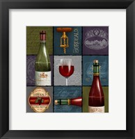 Framed Wine Collage Box