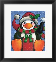 Framed Happy Penguin