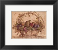 Framed Harvest Fruit I