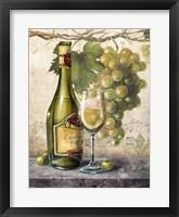 Framed Vin Blanc Elegant