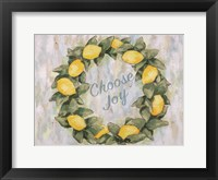 Framed Choose Joy Lemon Wreath