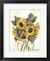Framed Harvest of Sunflowers