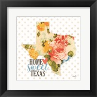 Framed Home Sweet Texas Floral