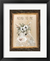 Framed Read to Me Bunny