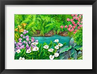 Framed Arums and Stream