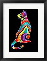 Framed Carnival Cats 5