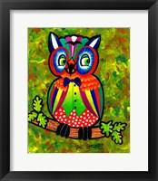 Framed Carnival Owl II