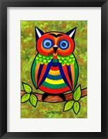 Framed Carnival Owl