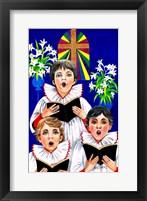 Framed Christmas Choir Boys