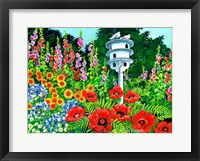 Framed Doves and Poppies