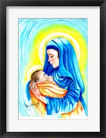 Framed Mary and Child