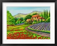 Framed Tuscany Lavender