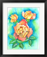 Framed Yellow Rose