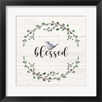Blessed Sign Framed Print