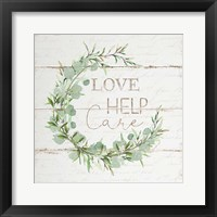 Framed Love Help Care