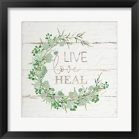 Framed Live Love Heal
