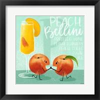 Framed Peach Bellini