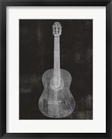 Framed Old Guitar