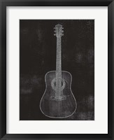 Old Guitar II Framed Print