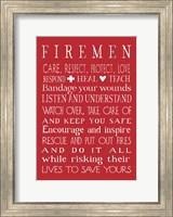 Framed Fireman in Red