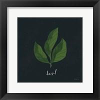 Framed Herbs VI Black