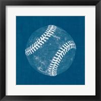 Ball Four Blueprint I Framed Print