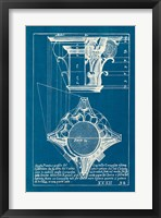 Framed Architectural Drawings X Blueprint