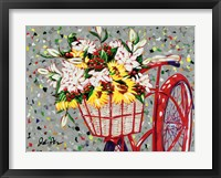 Framed Bicycle Bouquet
