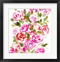 Framed Bunches of Pink Square