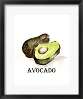 Framed Veggie Sketch II-Avocado