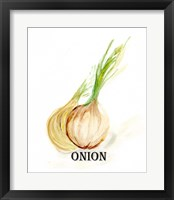 Framed Veggie Sketch X-Onion