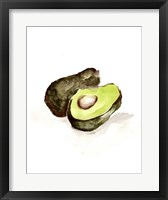 Framed Veggie Sketch plain II-Avocado