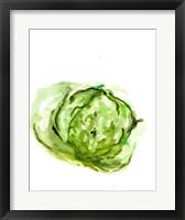 Framed Veggie Sketch plain IX-Lettuce