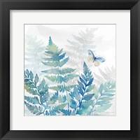 Framed Indigo Ferns II