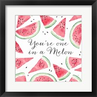 Framed Fresh Fruit Sentiment III-Melon