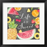 Framed Fresh Fruit Sentiment black I-Sweet