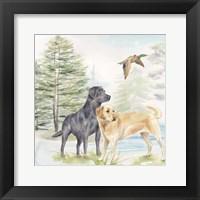 Framed Woodland Dogs I