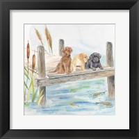 Framed Woodland Dogs IV