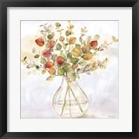 Framed Eucalyptus Vase Spice II