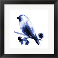 Framed Watercolor Chickadee I