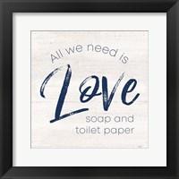 Framed Bathroom Humor III-Love