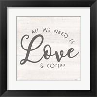 Framed Coffee Kitchen Humor II-Love