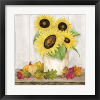 Fall Sunflowers I Framed Print