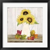 Fall Sunflowers II Framed Print
