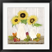 Fall Sunflowers IV Framed Print